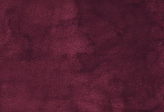 Akwarela elegancka ciemna szkarłatna tekstura tło