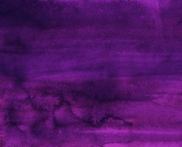 Akwarela elegancki głęboki fiolet tekstura tło, ręcznie malowane. vintage akwarela płyn fioletowym tle.