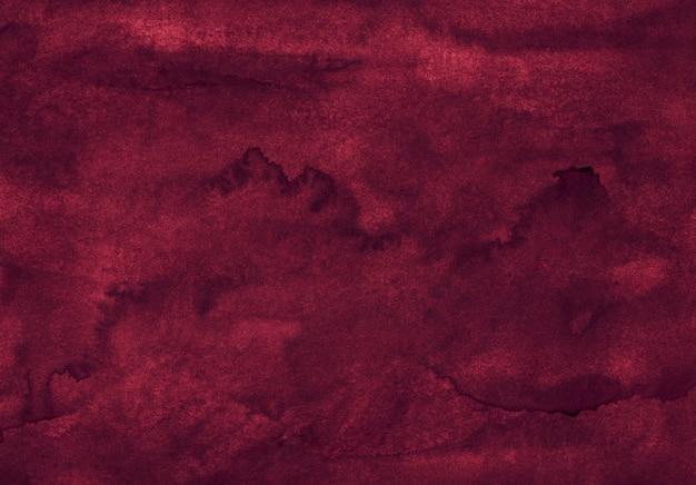 Akwarela głęboki bordowy tekstura tło ręcznie malowane