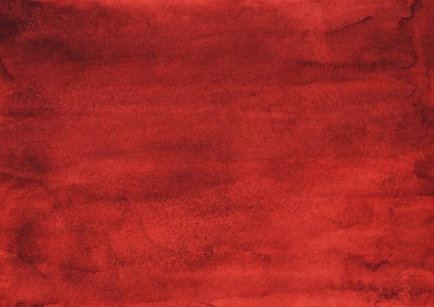 Akwarela głęboki czerwony brązowy tekstura tło ręcznie malowane