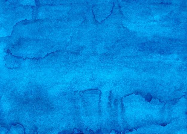 Akwarela głęboki niebieski płyn tło malowanie tekstury