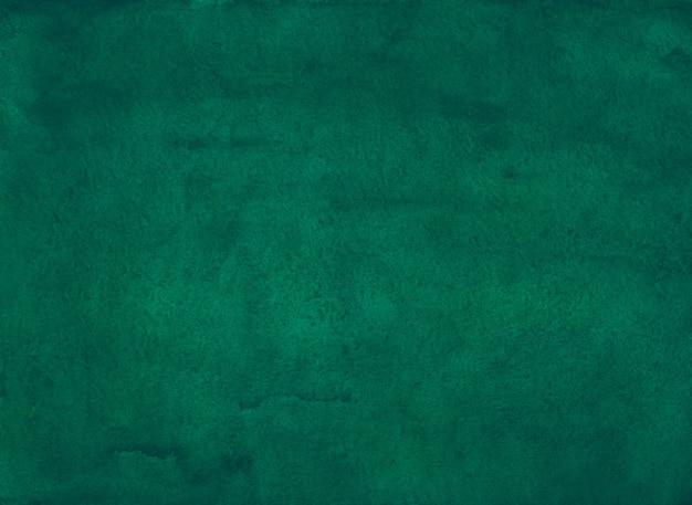 Akwarela głęboki turkusowy zielony obraz tła
