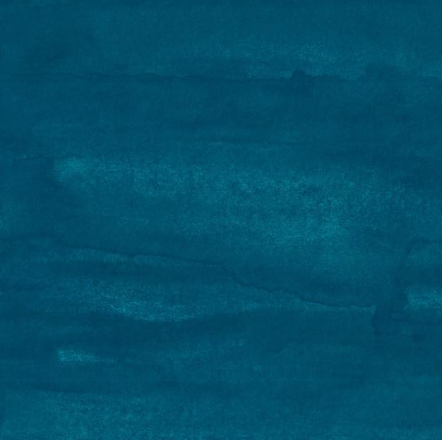 Akwarela głęboki turkusowy zielony stary tekstura tła