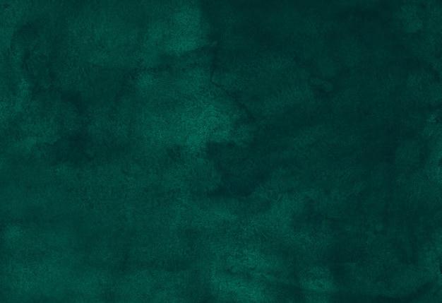 Akwarela głębokie szmaragdowe płynne tło