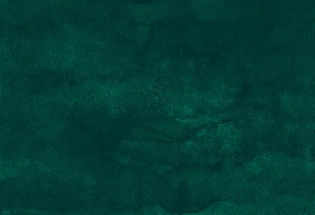 Akwarela głębokie szmaragdowe tło