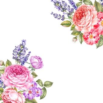 Akwarela ilustracji botanicznych.