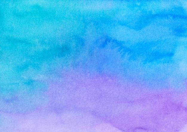 Akwarela jasnoniebieskie i fioletowe ombre tła malowanie tekstury