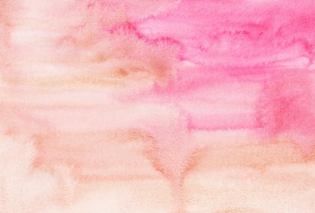 Akwarela jasnoróżowe i brązowe tło malowanie tekstury. wielobarwny akwarela pastelowe tło.