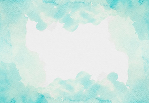 Akwarela kopia przestrzeń jasnoniebieska farba