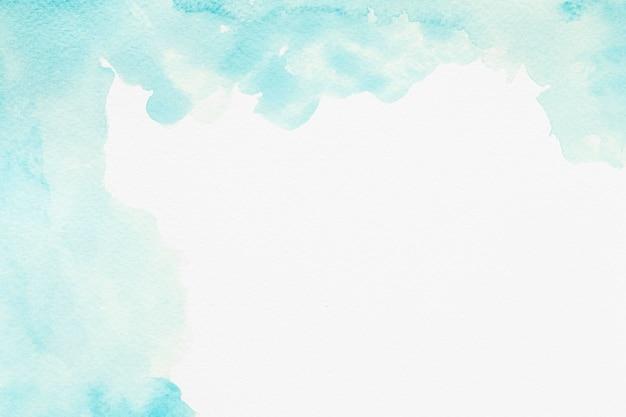 Akwarela kopia przestrzeń niebieska farba
