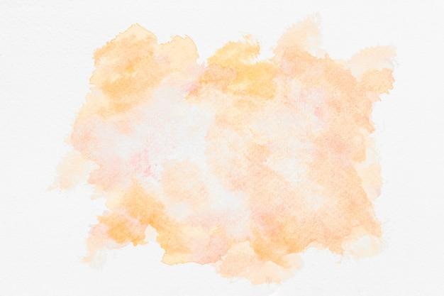 Akwarela kopia przestrzeń pomarańczowa farba