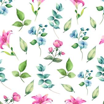 Akwarela kwiatowy wzór.
