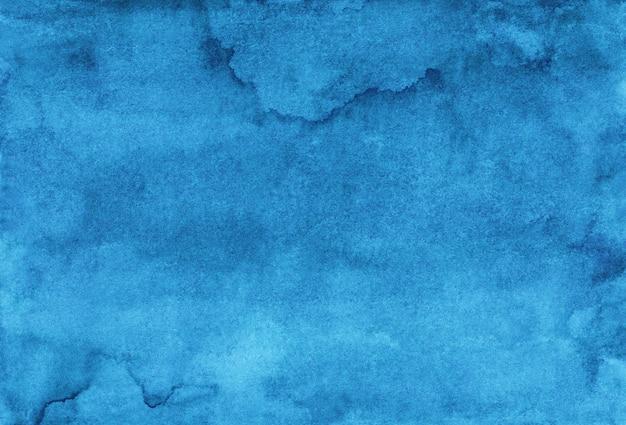 Akwarela lazurowe niebieskie tło malowanie tekstury