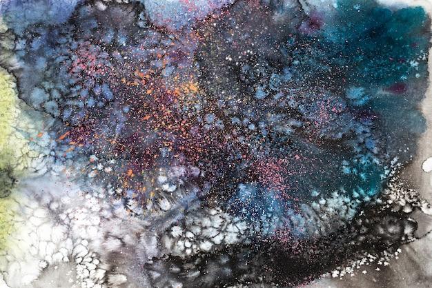 Akwarela malarstwo abstrakcyjne tekstury tła