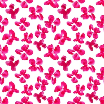 Akwarela malarstwo różowe kwiaty