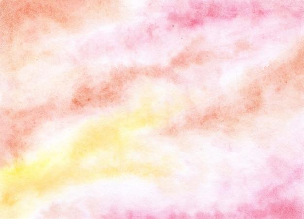 Akwarela malarstwo różowe żółte tło gradientowe pastelowa siatka gradientowa miękka wielokolorowa
