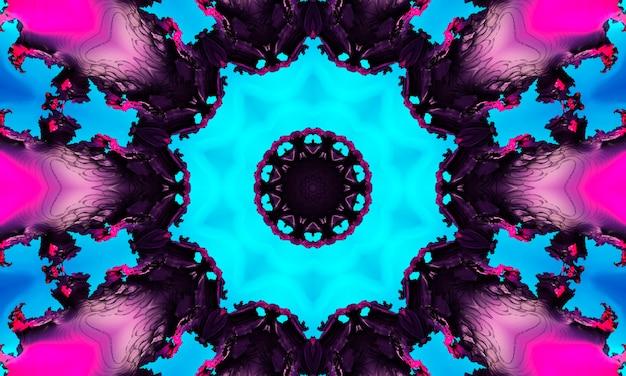 Akwarela neon cyjan ciemnoniebieski czarny atrament kwadratowy naturalny wzór jakości zdjęcia.