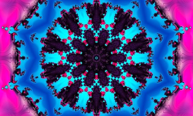 Akwarela neonowy cyjan ciemnoniebieski czarny atrament kwadratowy naturalny wzór jakości zdjęć