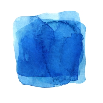 Akwarela niebieska plama