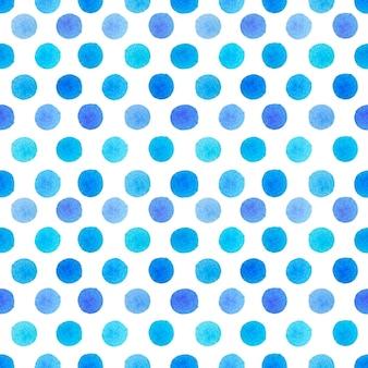 Akwarela Niebieskie Kropki Wzór Premium Zdjęcia