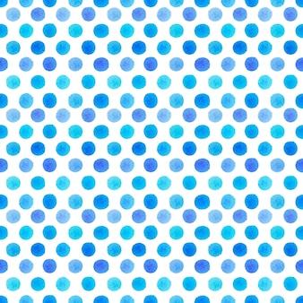 Akwarela niebieskie kropki wzór