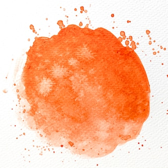 Akwarela pomarańczowy pociągnięcie pędzla