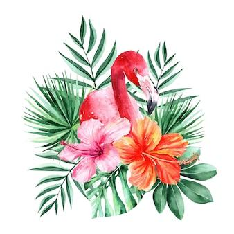 Akwarela ręcznie malowane tropikalny clipart