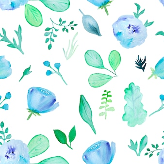 Akwarela ręcznie rysowane kwiatowy wzór