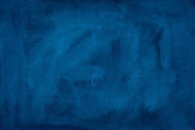 Akwarela rocznika ciemnoniebieskie tło tekstura. aquarelle streszczenie stary głęboki cerulean tło kolor wody elegancki szablon.
