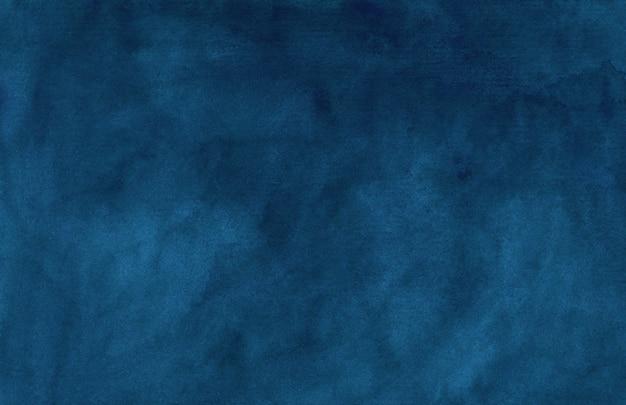 Akwarela rocznika ciemnoniebieskie tło tekstura. kolor wody streszczenie stary ciemny atrament niebieskim tle akwarela elegancki szablon.