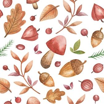 Akwarela rysunek jesień las