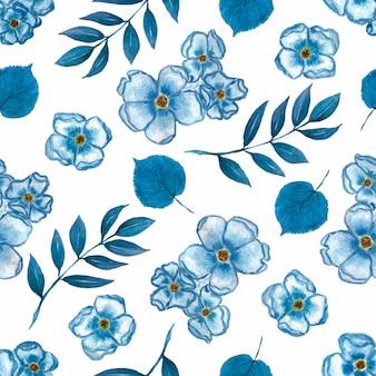 Akwarela śliczny kwiecisty wzór mali kwiaty