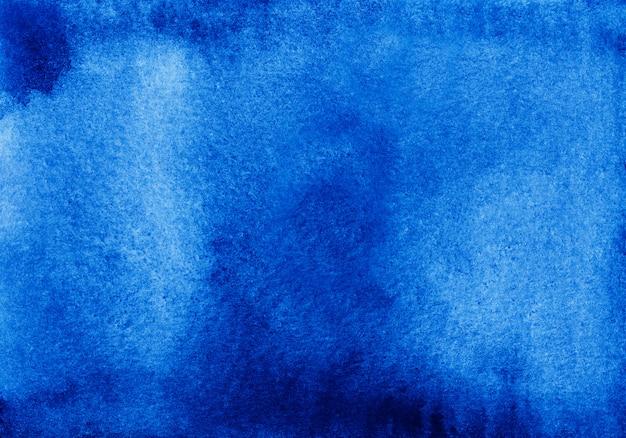 Akwarela streszczenie ciemnoniebieskie tło tekstura