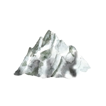 Akwarela szara góra