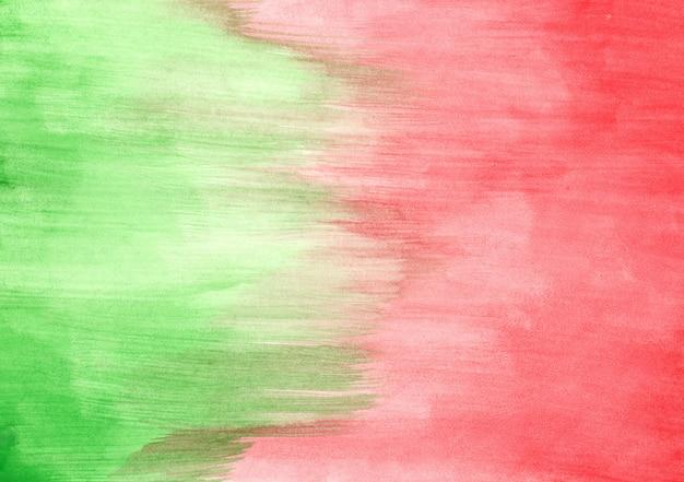 Akwarela tekstura zielony i czerwony