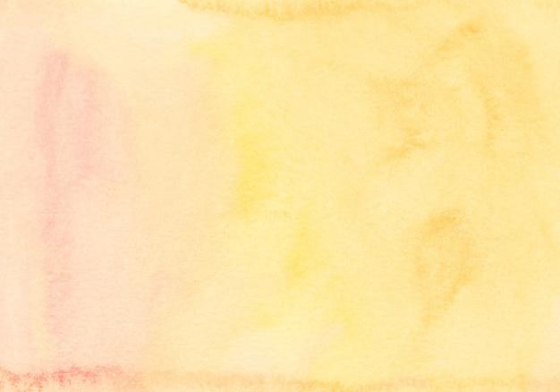 Akwarela tekstury tła jasnożółty i pomarańczowy