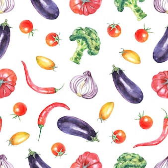 Akwarela warzywa wzór
