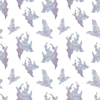 Akwarela wodorostów streszczenie fioletowe tło wzór z ręcznie rysowane elementy.