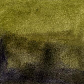 Akwarela zielone tło z pociągnięciami pędzla kropki plamy