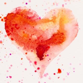 Akwarele serca. walentynki karta greating, miłość, związek, sztuka, malarstwo.