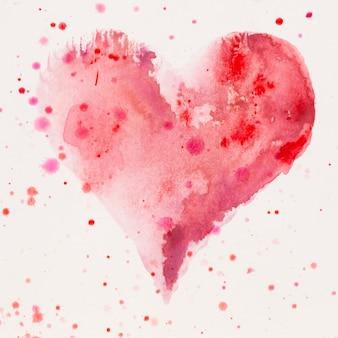 Akwarele serca. walentynki kartka okolicznościowa, miłość, związek, sztuka, malarstwo.