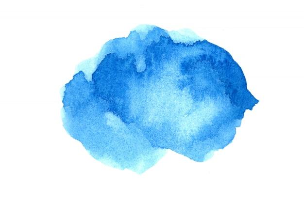 Akwarele z artystycznymi kolorowe abstrakcyjne obrazy na białym papierze. akwarela koncepcja