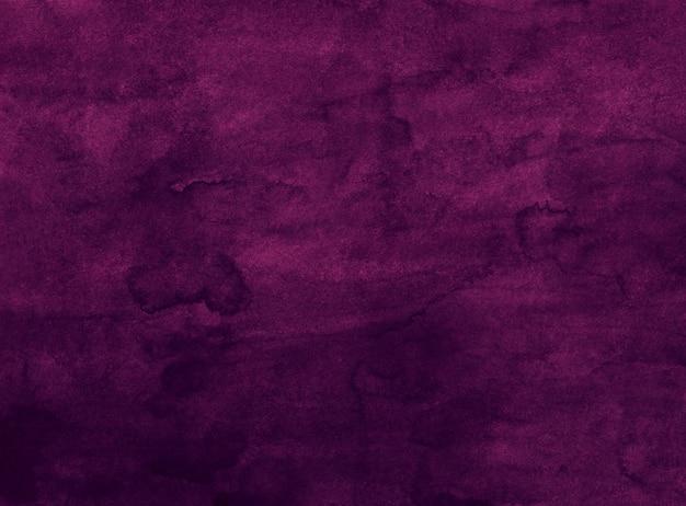 Akwareli ciemna purpurowa wino koloru tła tekstura