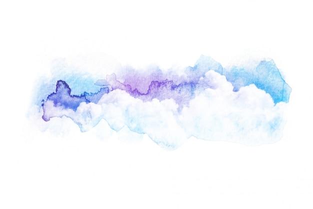 Akwareli ilustracja niebo z chmurą.