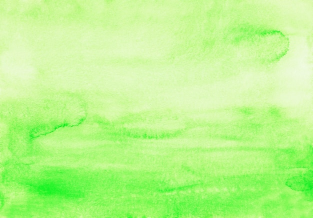 Akwareli jasnozielona żółta ombre tła tekstura. akwarela pastelowe zielone tło gradientowe. plamy na papierze.