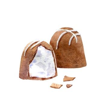 Akwarelowa czekolada z nadzieniem malwy