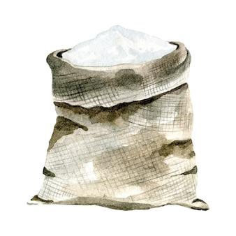 Akwarelowa torebka z mąką