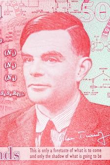 Alan turing portret z angielskich pieniędzy