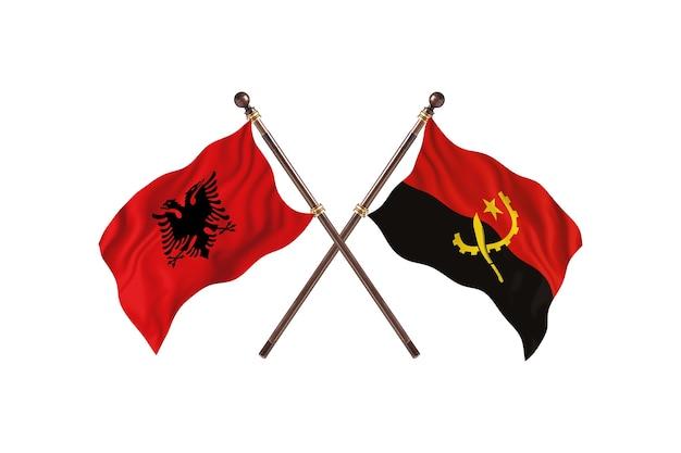 Albania kontra angola dwie flagi