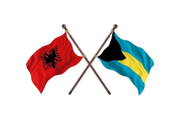 Albania kontra bahamy dwie flagi